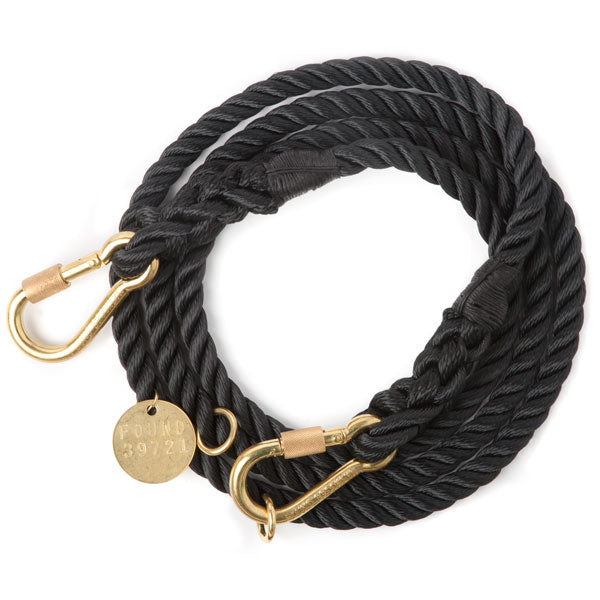 FOUND MY ANIMAL | Adjustable Rope Lead in Black
