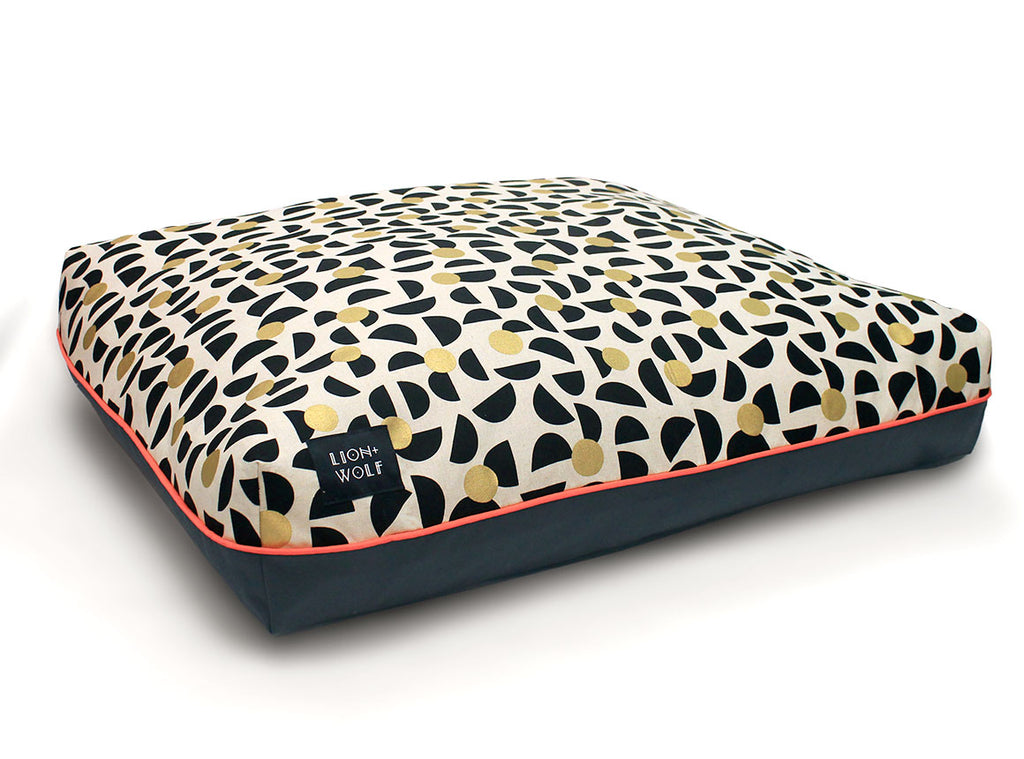 LION + WOLF | Dog Bed in Bees Knees (Limited Edition)