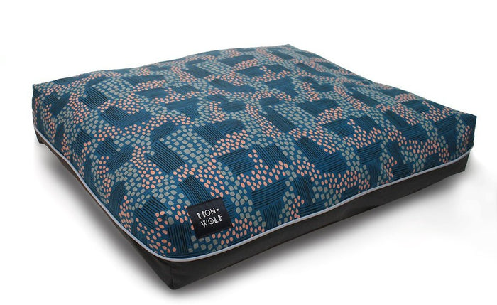LION + WOLF | Dog Bed in Rivulet (Limited Edition)