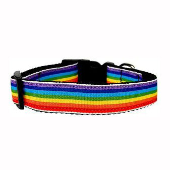 LOVE MY PUP | Rainbow Striped Nylon Collar