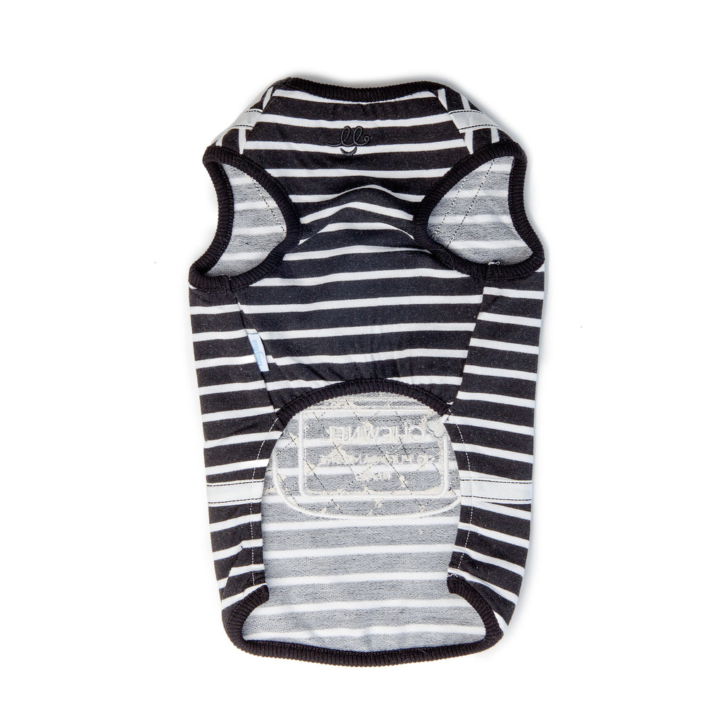 LUNA BLUE | Chewnel Backpack Tank in Black