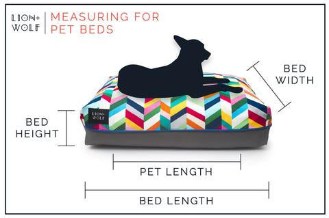 LION + WOLF | Chevron Dog Bed in Technicolor