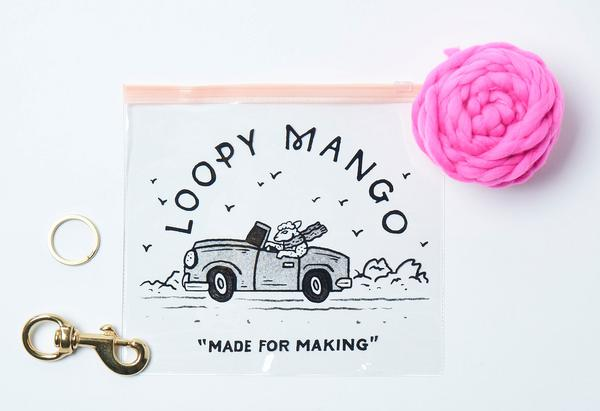 LOOPY MANGO | DIY PomPom for Leash Kit in Hot Pink