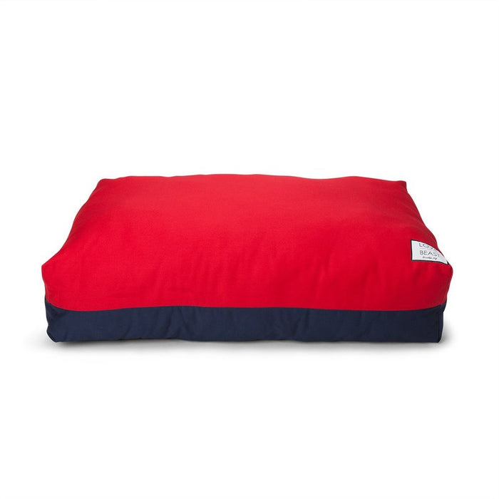 LOVE THY BEAST | Flip Stitch Bed in Red + Navy