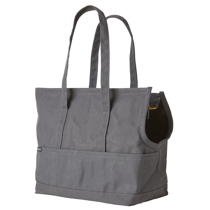 LOVE THY BEAST | Canvas Pet Tote in Dark Grey