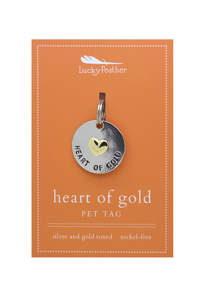 LUCKY FEATHER | Heart of Gold Tag