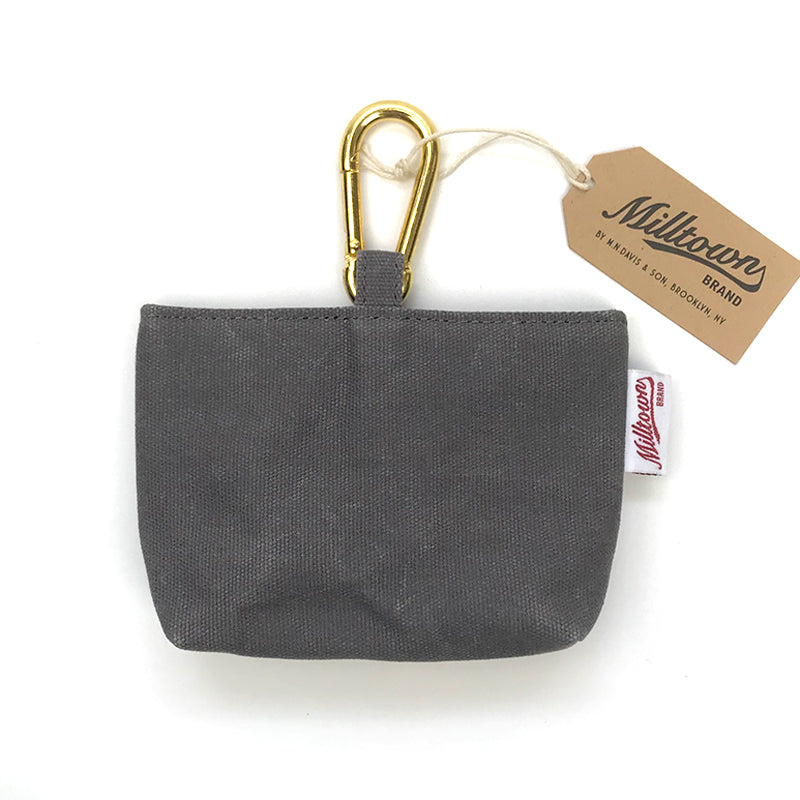 M.N. DAVIS & SON | Milltown Canvas Dog Treat Case in Slate Grey
