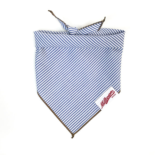 M.N. DAVIS & SON | Dog Bandana in Navy Pinstripe