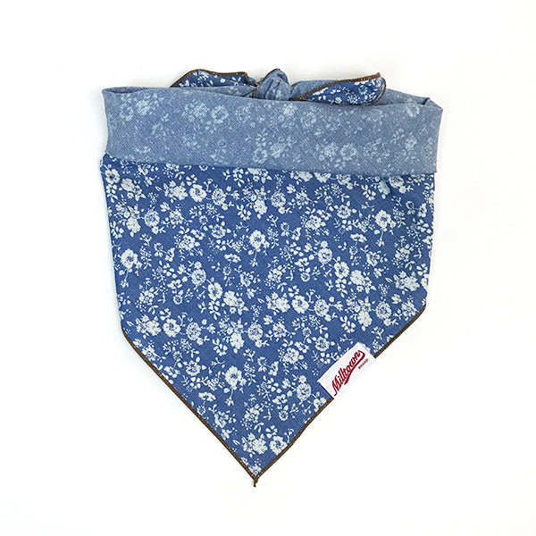 M.N. DAVIS & SON | Dog Bandana in Chambray Blue Floral
