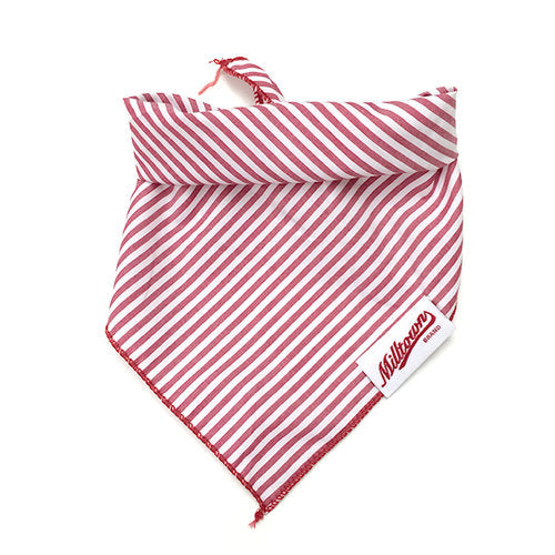 M.N. DAVIS & SON | Dog Bandana in Red Pin Stripe