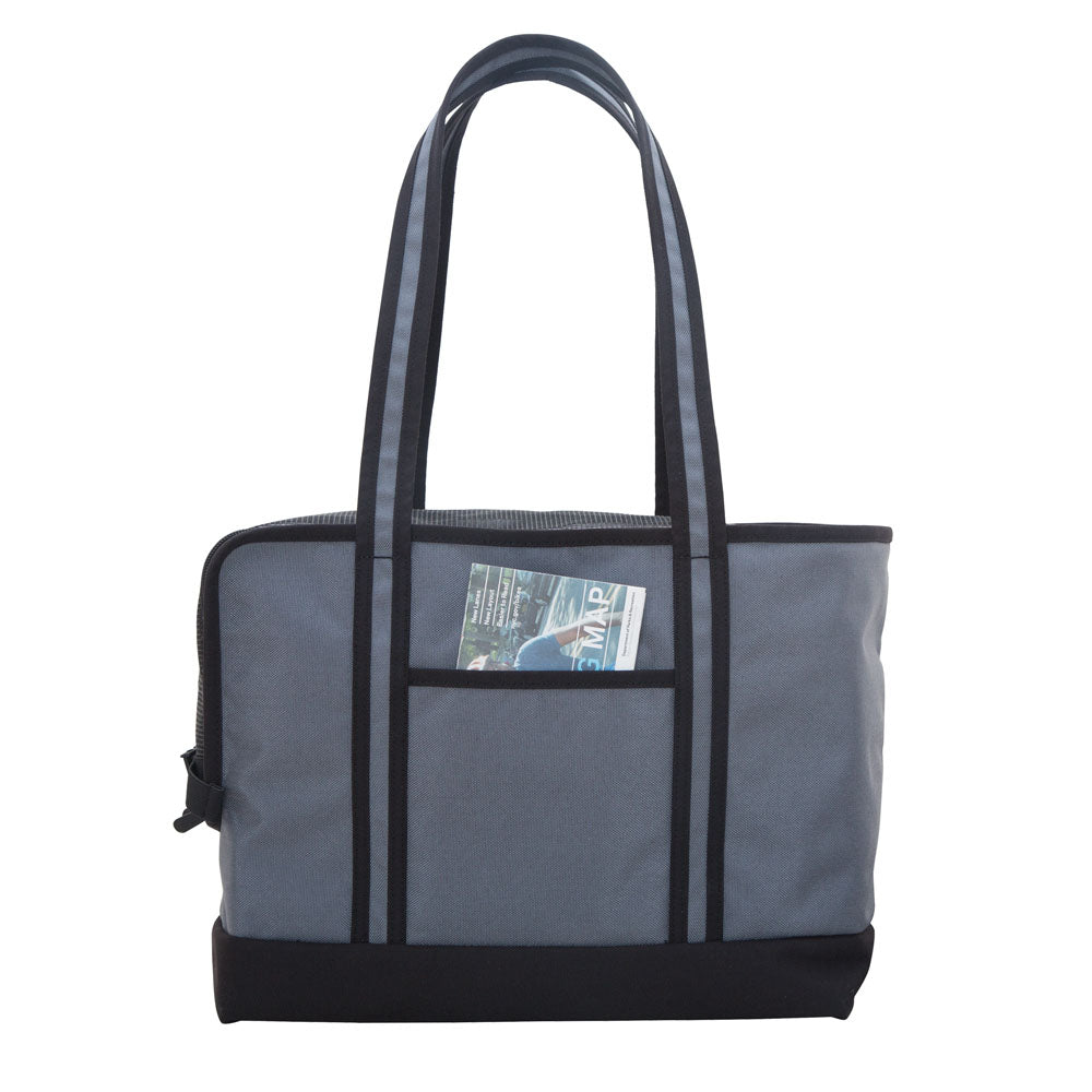 MPet Carrier Tote Bag in Grey & Black (Small)