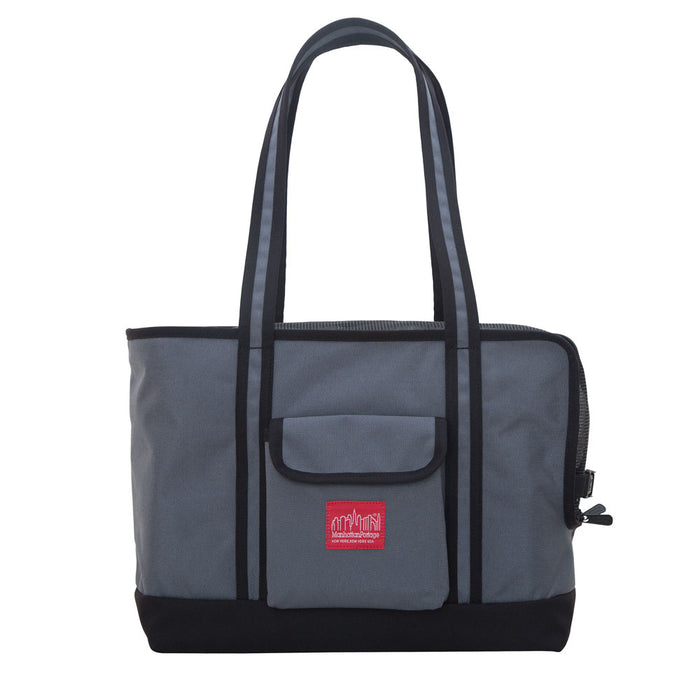 MANHATTAN PORTAGE | Pet Carrier Tote Bag in Grey & Black (Small)