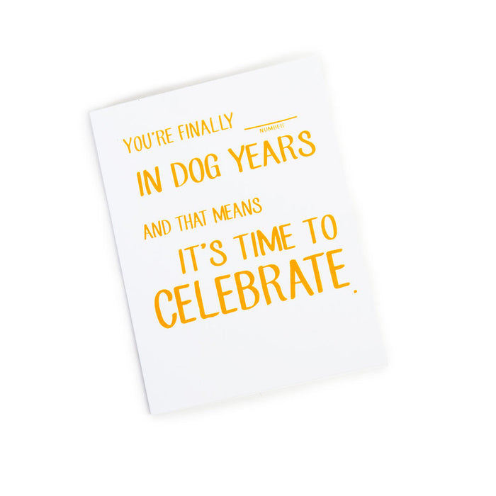 MAYD THIS WAY | Finally _ in Dog Years Card (DOG & CO. Exclusive)