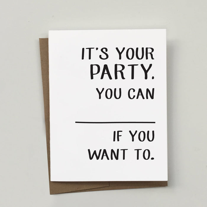 MAYD THIS WAY | It's Your Party Greeting Card