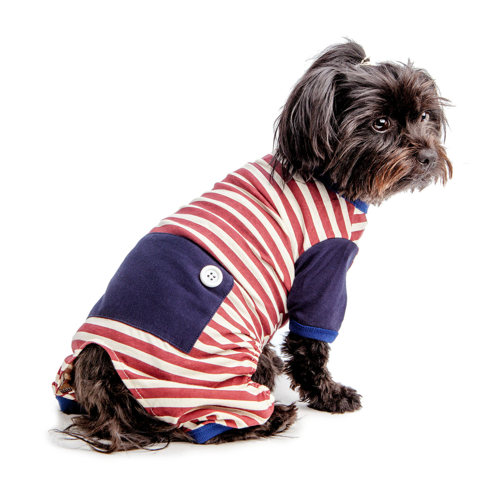 BEST FURRY FRIENDS | Red and White Stripe PJs