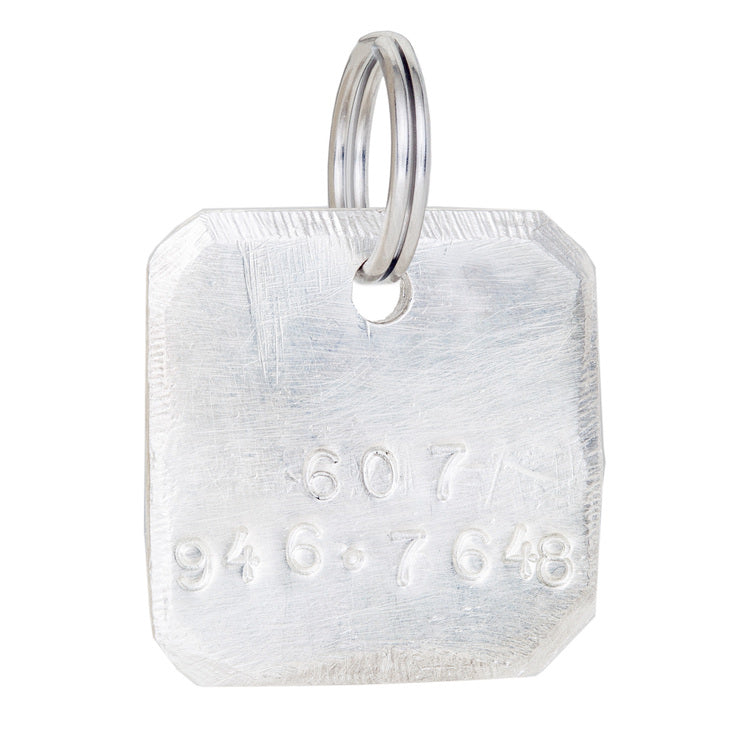 DOG & CO. | Square Dog Tag in Silver (custom)