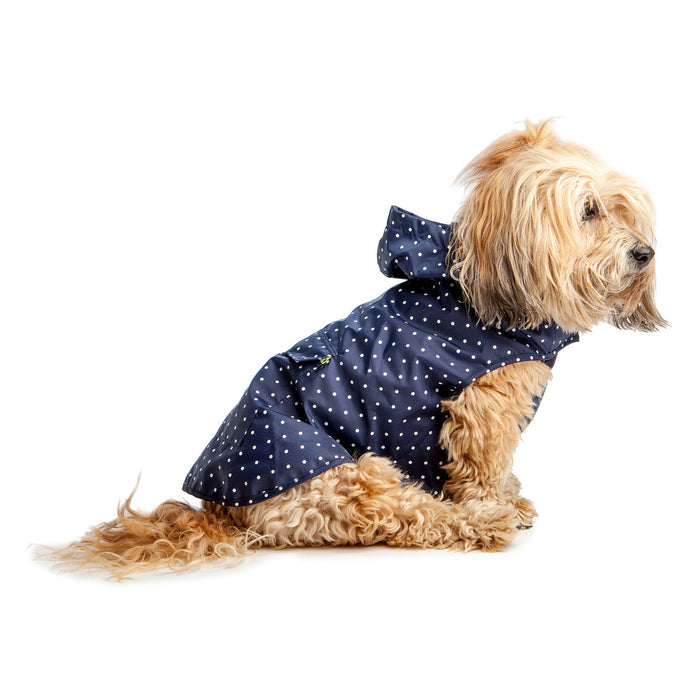 WARE OF THE DOG | Polka Dot Anorak Raincoat in Navy