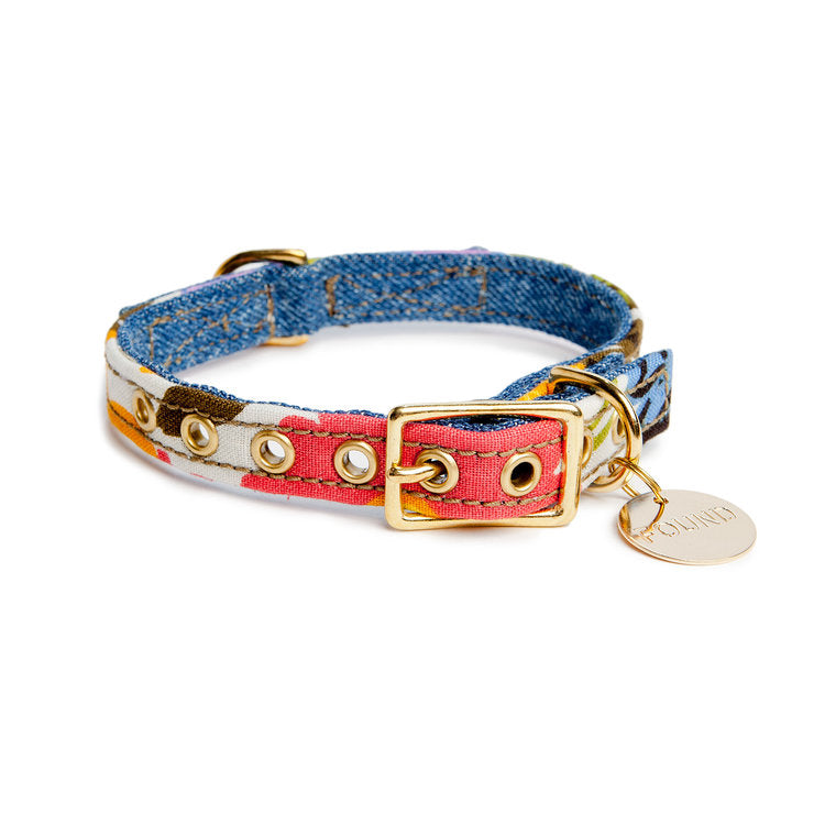 FOUND MY ANIMAL | Vintage Floral & Denim Collar