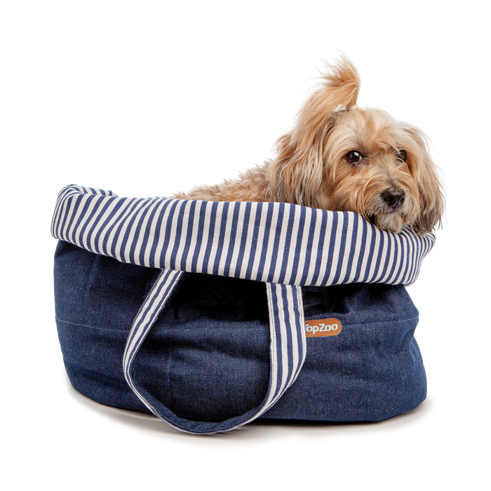 TOPZOO | Oval Bed Bag in Denim
