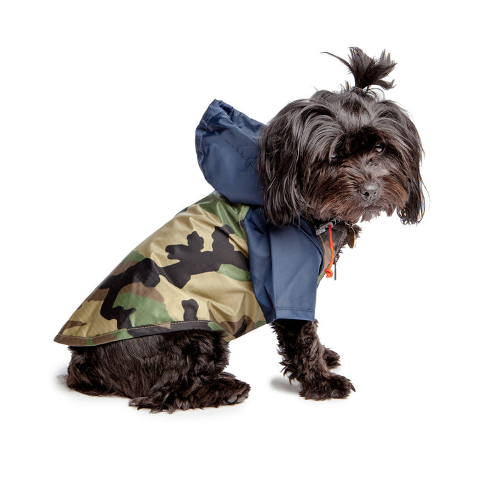 WAGWEAR | Nylon Colorblock Rainbreaker in Navy + Camo (Exclusive to DOG & CO.)