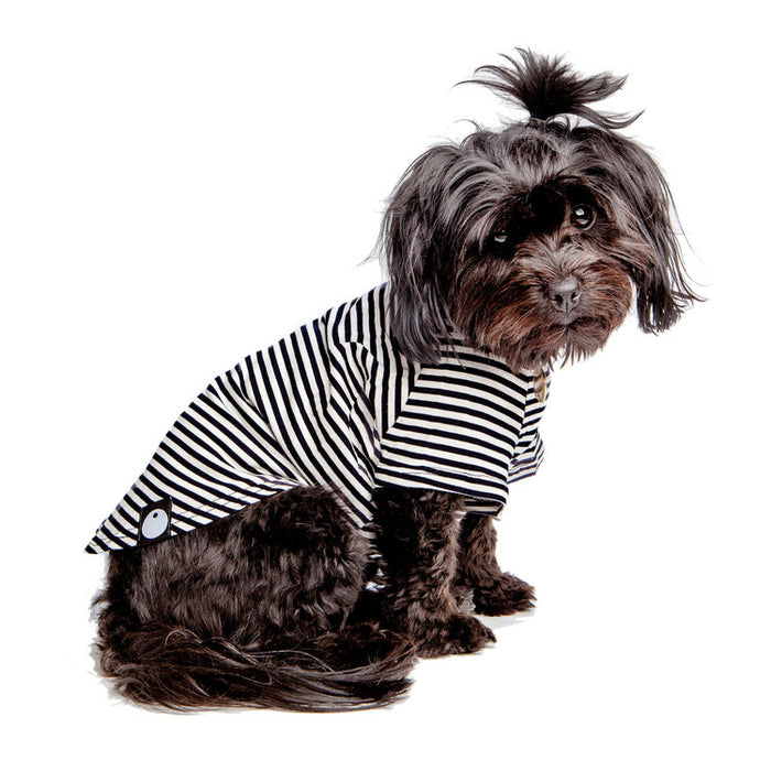 DOG & CO. | Perfect T in Black & White Stripe