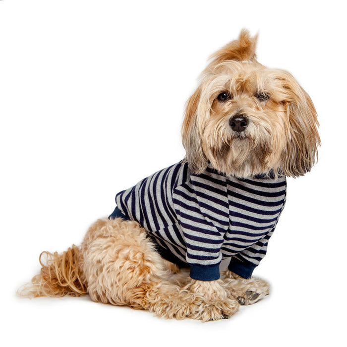 DOG & CO. | Cheeky Stripe Pullover in Grey & Navy