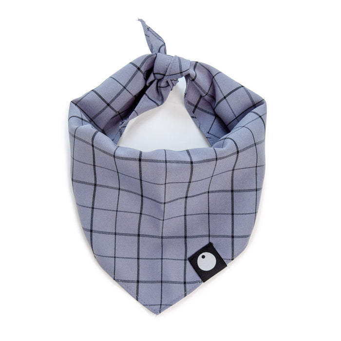 DOG & CO. | Check Bandana in Concrete Grey