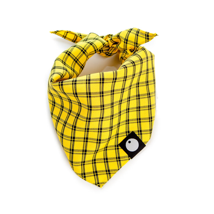 DOG & CO. | Check Bandana in Yellow