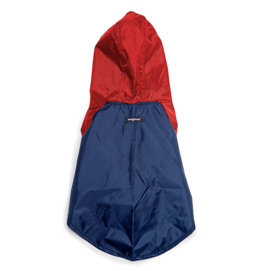 Nylon Colorblock Dog Rainbreaker in Navy + Red (Exclusive to DOG & CO.)