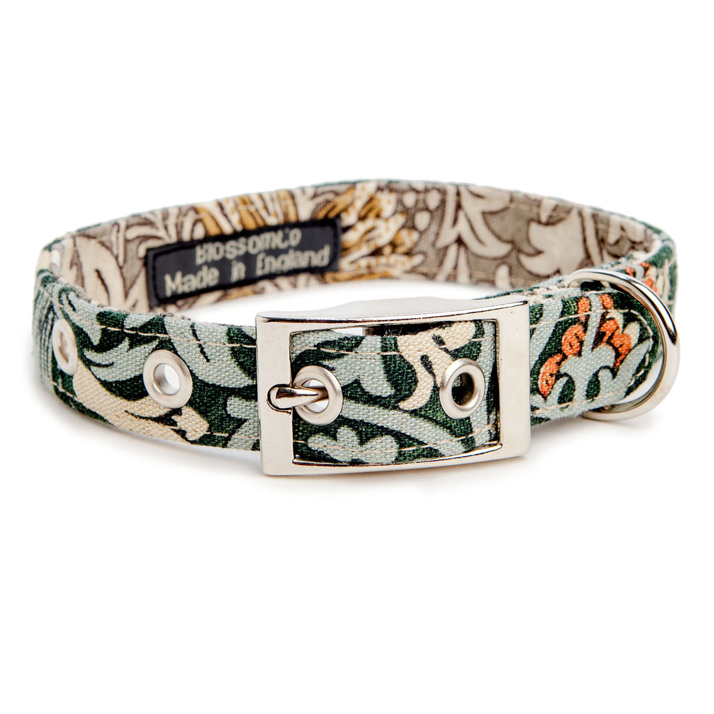 BLOSSOM CO. | Snakeshead William Morris Print Dog Collar