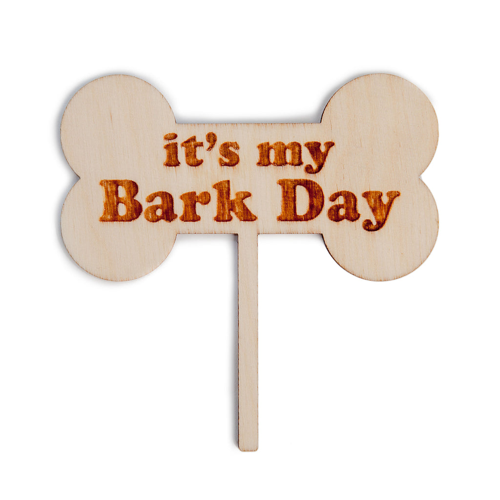 "PLAYA PUP | ""It's My Bark Day"" Cake Topper"