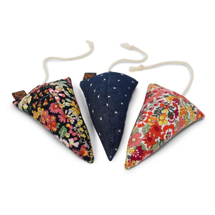 Three Modern Mice Cat Toys in Floral (Immediate Ship)