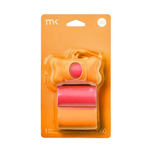 MODERN KANINE | Dispenser and Bags in Orange + Coral