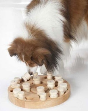 Mandala & Star Dog Puzzle Treat Game