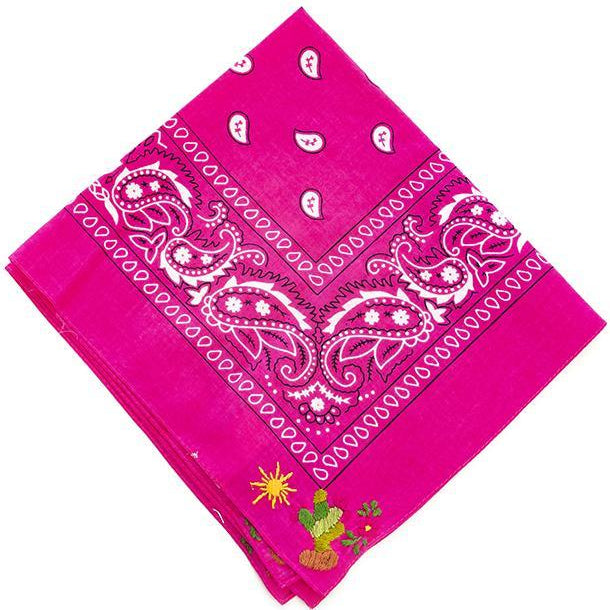NATIVA | Cactus Bandana in Pink