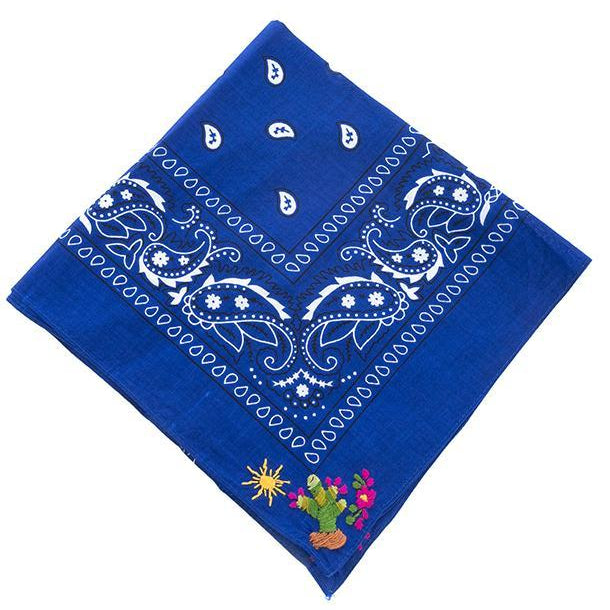 NATIVA | Cactus Bandana in Blue