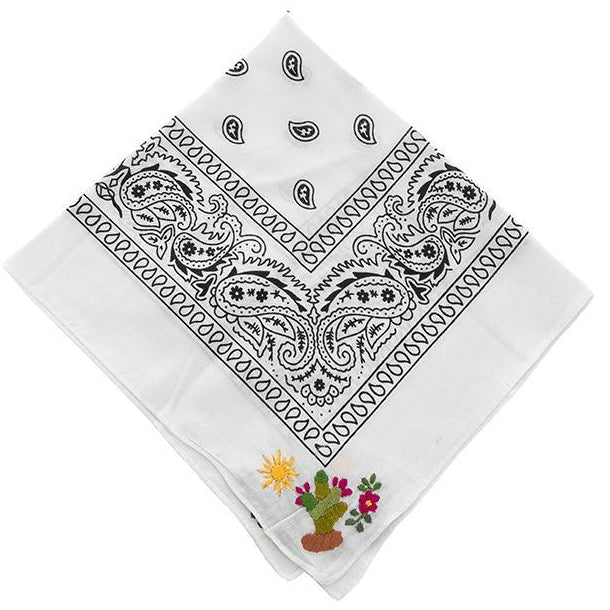 NATIVA | Cactus Bandana in White