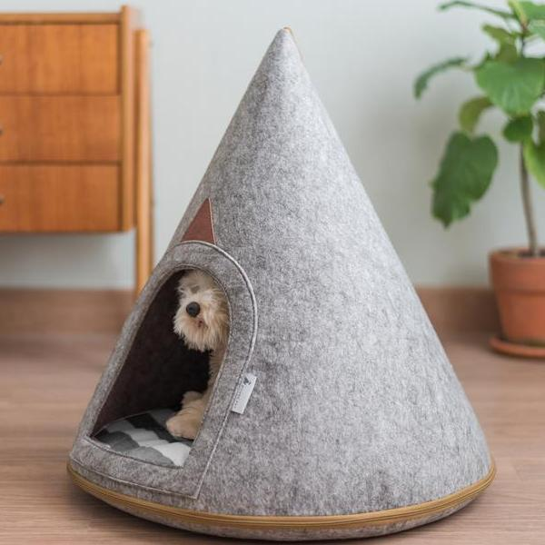 Bella Soft Grey Dog Cave (Small)