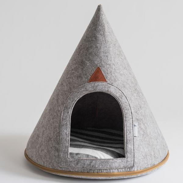 Lucy Soft Grey Dog Cave (Medium)