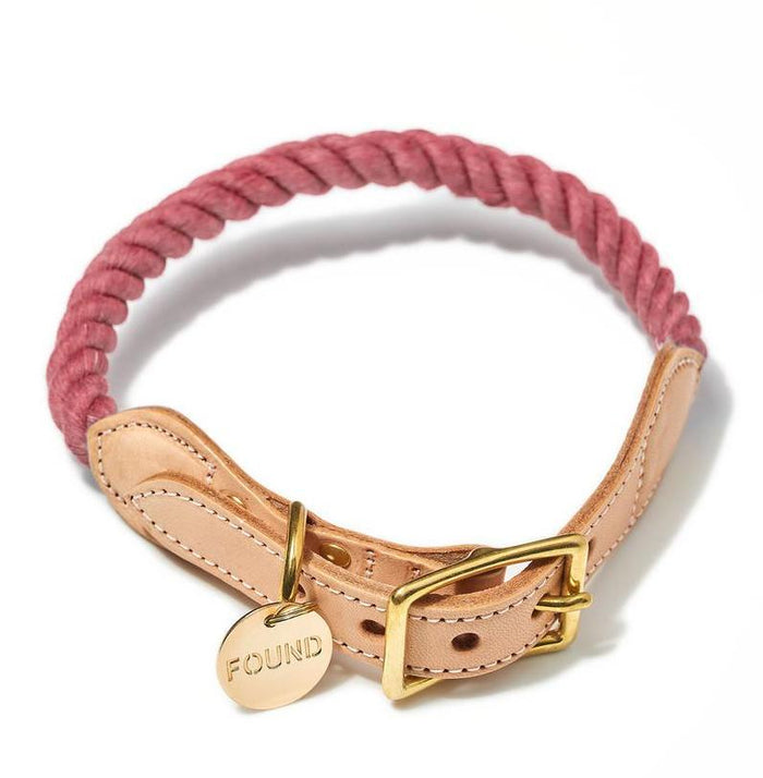 FOUND MY ANIMAL | Rope Collar in Nantucket Red (Recycled)