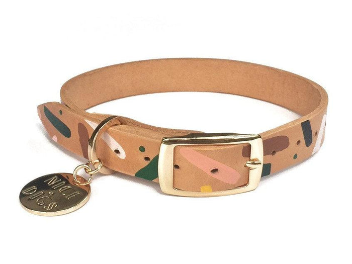 NICE DIGS | Master Confetti Leather Dog Collar