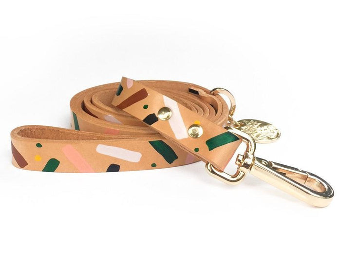 NICE DIGS | Master Confetti Leather Dog Leash