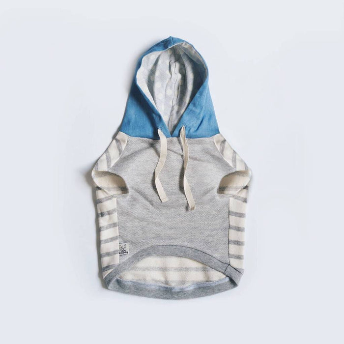OH POP DOG | Grey Stripe Hoodie