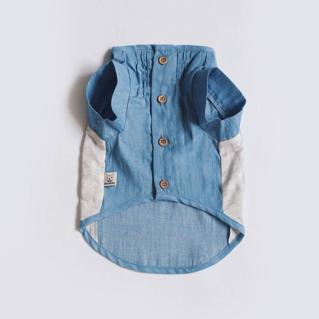 OH POP DOG | Pintuck Denim Shirt