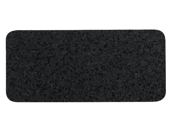 ORE PET | Skinny Rectangle Natural Recycled Rubber Pet Placemat in Black