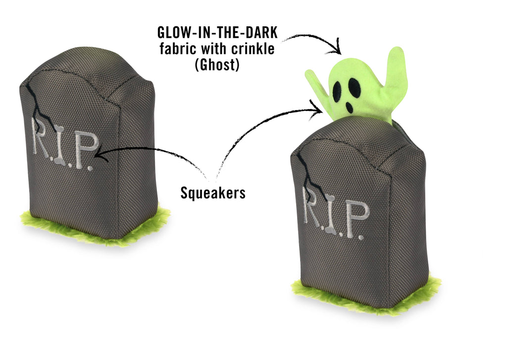 Glow In The Dark Ghoulish Ghoul Dog Plush Toy
