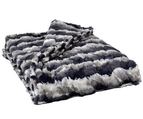 Faux Fur Dog Blanket in Ocean Mist