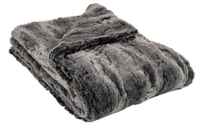 Faux Fur Dog Blanket in Stormy Night