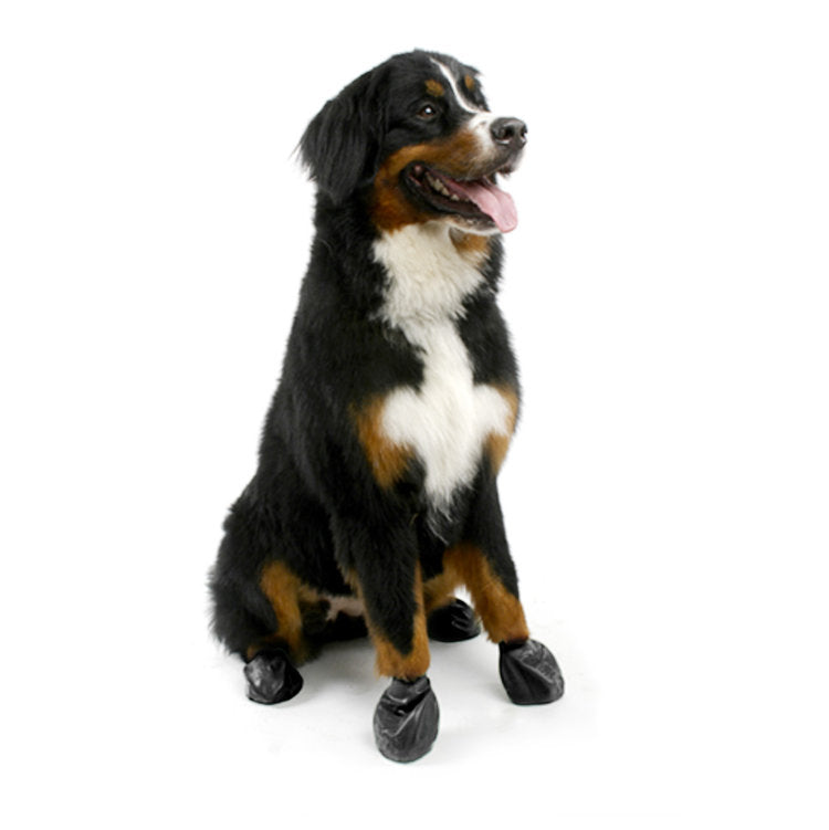 Natural Rubber Dog Boots in Black