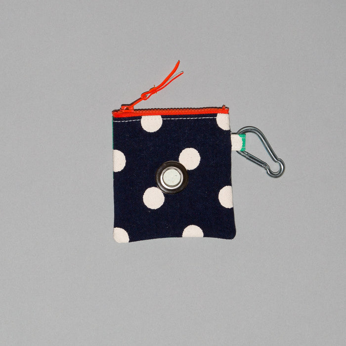 WARE of the DOG I Polka Dot Canvas Pouch in Blue/Green